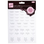 Card Labels Handmade By 58pk