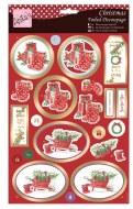 Anita's A4 Foiled Decoupage Santa Gets a Gift
