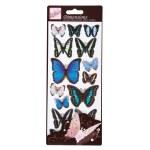 3D Stickers Wings Blue