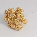 Mini Open Rose 12pk Iridescent Gold