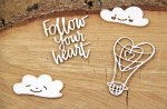 Chipboard Cloud Balloons