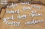 Chipboard Summer Words #1