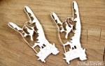 Chipboard Rock Hands 2pk