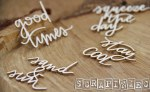 Chipboard Beautiful Life Words