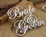 Chipboard Bride & Groom 4pk