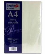 Card A4 300gm 100pk Smooth Ivory