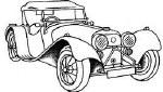 R/Stamp Vintage Car