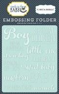 Embossing Folder Rock Bye Boy