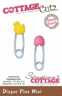 CottageCutz Die Mini Diaper Pins