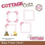 """CottageCutz Die Baby Frame 4x4"""""""