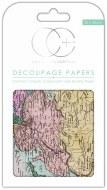 Decoupage Paper World Map #1