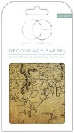 Decoupage Paper World Map #2