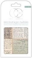 Decoupage Paper Postcards