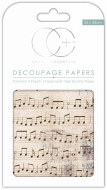 Decoupage Paper Music