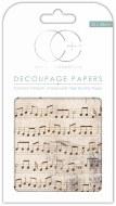 Decoupage Paper Music