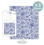 Decoupage Indian Blue