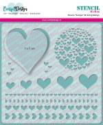 "Stencil 6x6"" Carlijn Design Hearts"