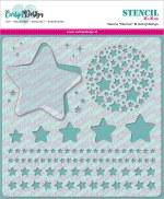 """Stencil 6x6"""" Carlijn Design Stars"""