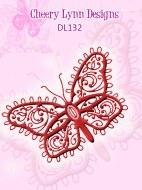 Cheery Lynn Die Flourish B'Fly 140x89mm