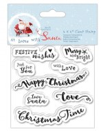 "Clear Stamp 4x4"" At Home With Santa"