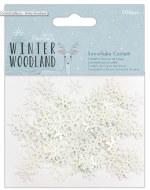 Confetti Snowflake Winter Woodland 200pk