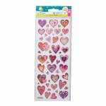 Fun Stickers Glitter Hearts