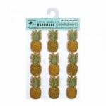 LittleBirdie Kraft Embellishments - Pineapples, 9pcs