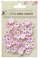 LittleBirdie Micro Jewelled Florettes Pearl Pink 60Pc