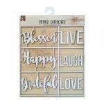 LittleBirdie Chipboard Sentiments - Think Positive, 1pc