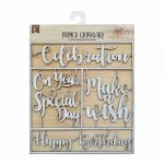 LittleBirdie Chipboard Sentiments - Celebration, 1pc