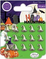Craft Consortium Happy Haunting Metal Charms Witches Hat