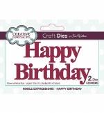 Creative Expressions Die Happy Birthday