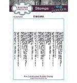 Creative Expressions Pre Cut Rubber Stamp Enigma