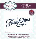 Creative Expressions Die Scripted Thank You