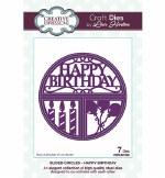 Creative Expressions Sliced Circles Happy Birthday