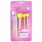 Stencil Brushes 7pk