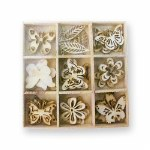 Wood Shapes Butterfly 45pk