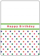 Embossing Folder CT Happy Bday