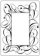 Embossing Folder Swirl Frame