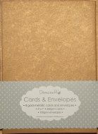 "Dovecraft Card & Envelope Pack 5x7"" Antique Metallic Gold 8 pack"