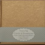 "Dovecraft Card & Envelope Pack 6x6"" Antique Metallic Gold 8 pack"