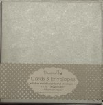 "Dovecraft Card & Envelope Pack 6x6"" Metallic Silver 8 pack"