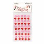 Adhesive Pearl Hearts 50pk