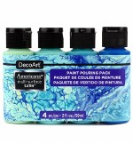 Decoart Multi Surface Coastal Pouring Kit 4pk