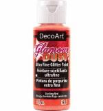 DecoArt Fine Glitter Paint 59ml Sizzling Red