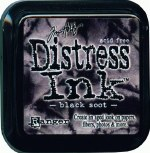 Ranger Tim Holtz Black Soot Distress Ink Pad