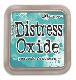 "Distress Oxide Pad 3x3"" Peacock Feather"