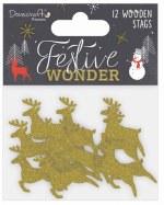Dovecraft Wooden Reindeer 14pk