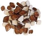 Mosaic Glass Drops Brown 140pk