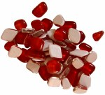 Mosaic Glass Drops Red 140pk
